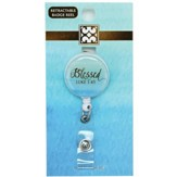 Blessed, Luke 1:45 Badge Reel, Green