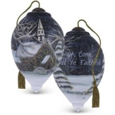 Oh Come, All Ye Faithful Glass Ornament