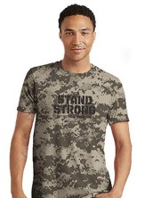 Stand Strong Shirt, Camo Gray, Medium