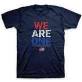 We Are One, Flag, Shirt, Navy Blue, Large
