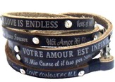Love Sayings Wrap Bracelet