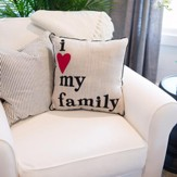 I [Heart] My Family Pillow