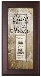 Christ Is the Head Of This House Framed Art