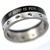 Spinner Ring God Is For Us, Size 7