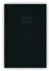 NKJV Compact Text Bible, Hardcover, Black