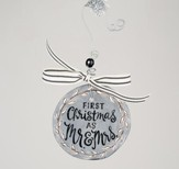 First Christmas Mr & Mrs Flat Ornament