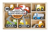 Wooden Construction Site Vehicles, 8 pieces