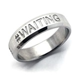 Waiting Stainless Steel Ring, Size 8