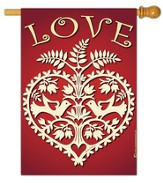 Heart of Love Flag, Large