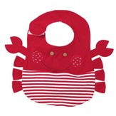 Nautical Crab Pocket Bib