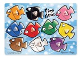 Fish Colors Mix and Match Peg Puzzle