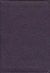 KJV Heritage Edition Bible and Prayer Book--calf split leather, purple