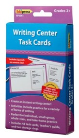 Writing Center Task Cards, Grades 2+