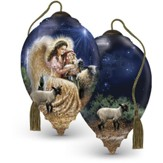Gentle Shepherd Glass Ornament