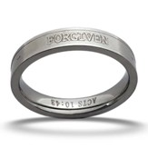 Forgiven Ring, Acts 10:43, Silver, Size 8