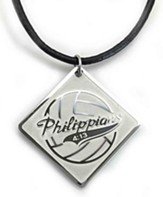 Volleyball, Philippians 4:13, Pendant