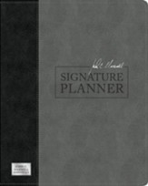 John C. Maxwell Signature Planner--soft leather-look, gray/black