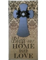 Bless Our Home, Burlap Wall Art