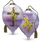 Amazing Grace Glass Ornament