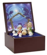 Precious Moments Heirloom Nativity Set, Musical LED 7 pieces