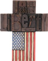 John 8:36, Liberty Cross with American Flag