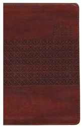 KJV Classic Giant-Print Personal-Size End-of-Verse Reference Bible--imitation leather, rustic brown (indexed)