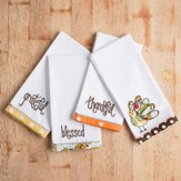 Fall Cloth Napkins, Set of 4