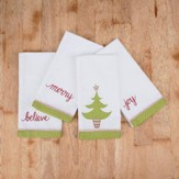 Christmas Tree Napkins, Set of 4