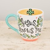 Jesus Knows Me Jumbo Mug