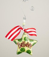 Believe Star Puff Ornament