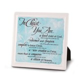 In Christ You Are, Plaque