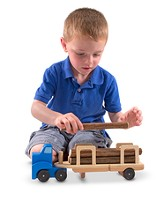 Wooden Log Carrier Set