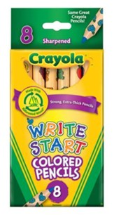 Crayola, Write Start Colored Pencils, 8 Pieces