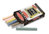 Multi-Colored Chalk, 12 pieces