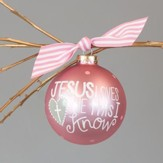 Jesus Loves Me Ornament, Girl