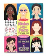 Make-a-Face, Fashion Faces, Sticker Pad