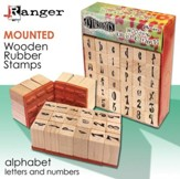 Rubber Stamp Alphabet Set