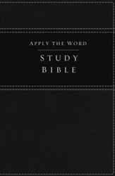 NKJV Apply the Word Study Bible--soft leather-look, black