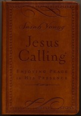 Jesus Calling, Deluxe Edition--soft  leather-look, brown