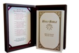 KJV Hand-Size Memorial Bible--imitation leather, burgundy