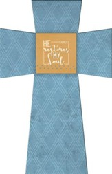 He Restores My Soul, Psalm 23:3, Layered Wall Cross