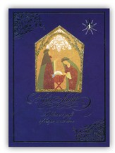 Manger Scene, Handmade Christmas Cards, Box of 12