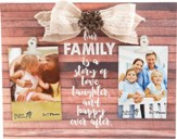 Our Family is a Story of Love...Plaque with photo clips