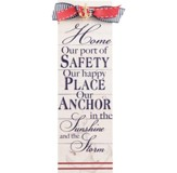 Home Our Port of Safety, Our Happy Place Plaque