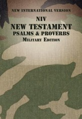 NIV New Testament with Psalms and Proverbs, Military Edition--softcover, woodland camo