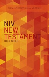 NIV Outreach New Testament--softcover, orange cross