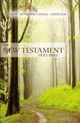 NIV Outreach New Testament--softcover, green forest path