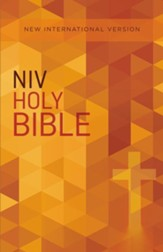 NIV Value Outreach Bible--softcover, orange cross