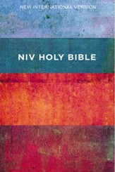 NIV Value Outreach Bible Red and Blue Stripes,  Paperback, Case of 24
