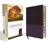 Amplified Study Bible--soft  leather-look, purple (indexed)